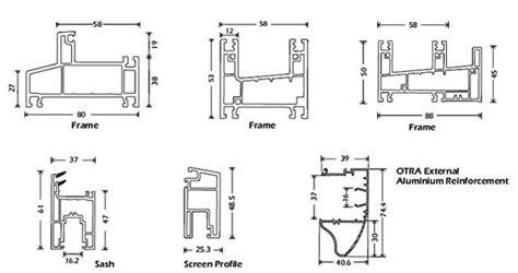 upvc window sections dwg upvc sliding windows design torfenster architectural