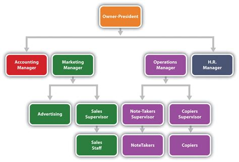 reading  organization chart  reporting structure