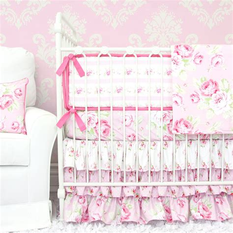 girly crib bedding 3 pink floral crib bedding sets for a girly nursery