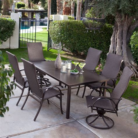 coral coast outdoor furniture coral coast corso wicker patio dining set seats 6 at hayneedle