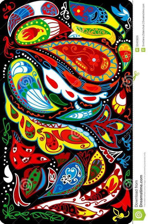 colorful paisley wallpaper paisley background royalty free stock images image 32403829