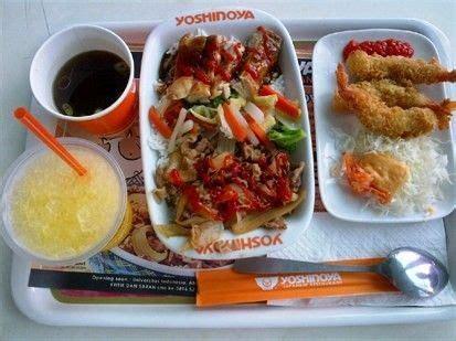 Paket Manggo paket combo yoshinoya daging ayam dan sayur