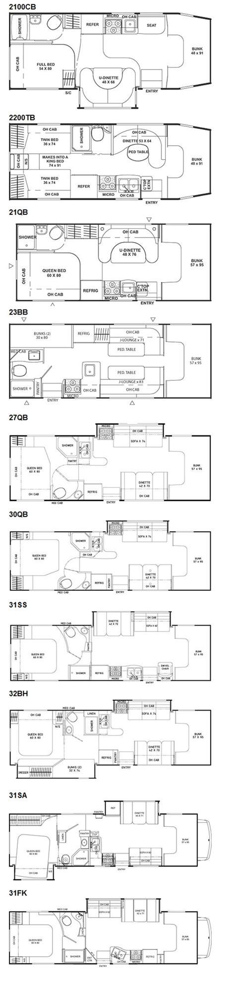 coachmen class c motorhome floor plans coachmen freelander class c motorhome floorplans 2011