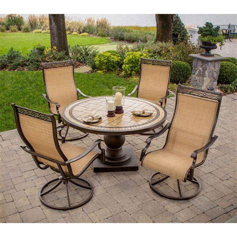 Hanover Monaco 5 Piece Patio Outdoor Dining Set