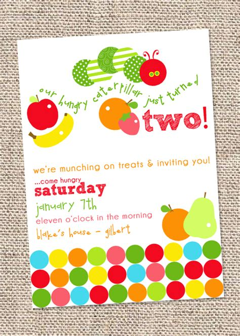A Very Hungry Caterpillar Birthday Hungry Caterpillar Birthday Invitation Template