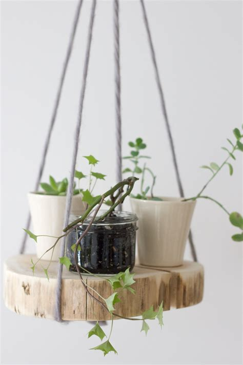 Diy Plant Hangers - diy wood shelf plant hanger diy wood shelves