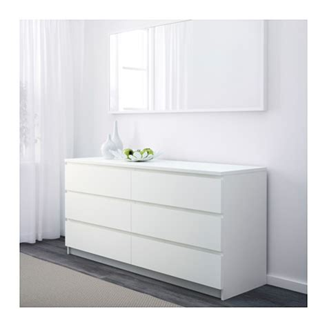 weisse kommode schubladen malm chest of 6 drawers white 160x78 cm ikea