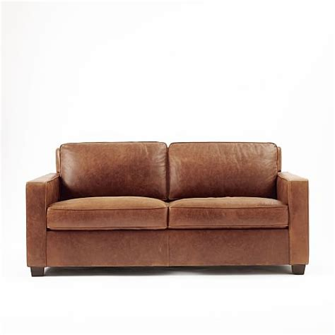 henry leather sectional henry 174 leather sofa molasses west elm