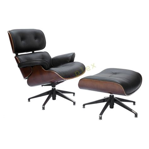 Black Lounge Chair by Replica Eames Black Lounge Chair And 5 Ottoman