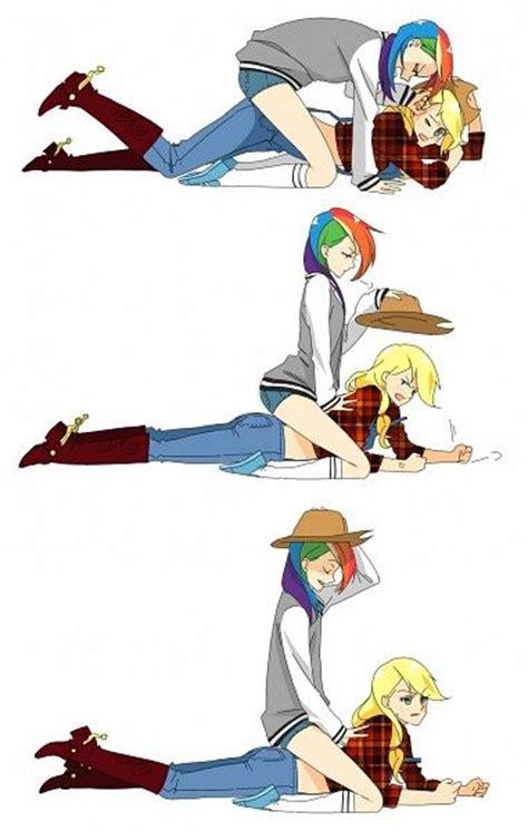 human rainbow dash x reader lemon applejack x rainbow dash my little pony friendship is