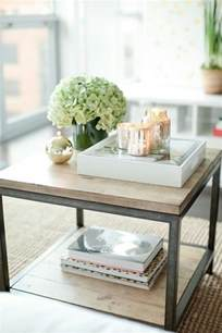 End Table Decor by How To Style Coffee Table Trays Ideas Amp Inspiration