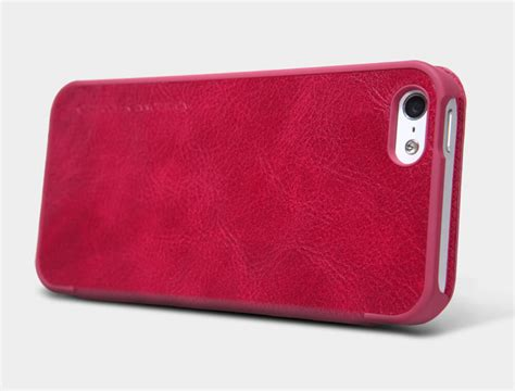 Nillkin Qin Series Leather For Apple Iphone 5 5s Merah nillkin qin series leather for apple iphone 5 5s 5se iphone se