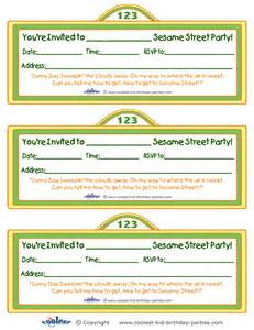 sesame templates free printable sesame sign invitation
