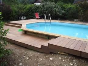 lovely Piscine En Bois Castorama #2: piscine-semi-enterrée-4m-8.jpg