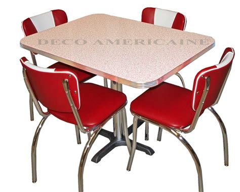 Diner Chair by American Retro Diner Set 4 Retro Riner Chairs 1 Table