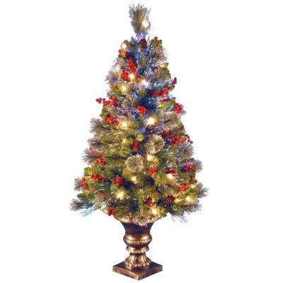 home depot fiber optic christmas tree national tree company 4 ft fiber optic crestwood spruce artificial tree szcw7 105 40