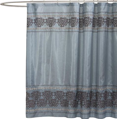 houzz shower curtains royal dynasty blue shower curtain contemporary shower