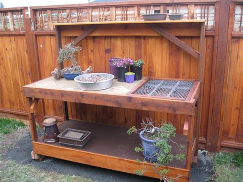 our homemade potting bench from scrap materials cost was