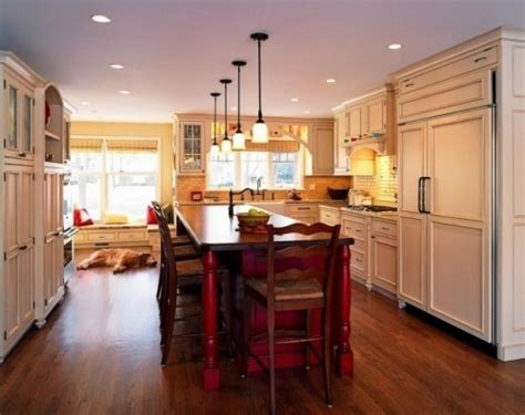 Red Kitchen Island by Red Island