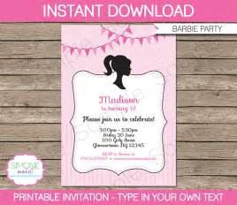 barbie party theme printables amp invitations