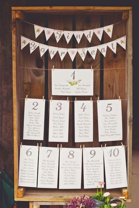 Wedding Table Seating by 30 Most Popular Seating Chart Ideas For Your Wedding Day