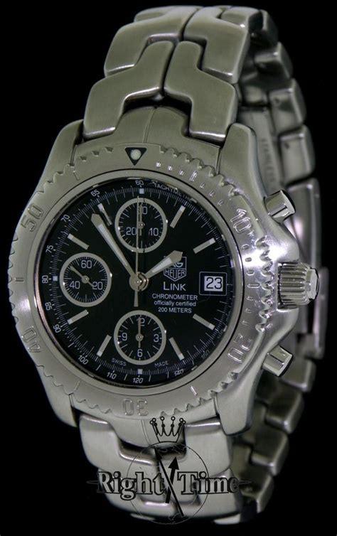 Tag Heuer Chronograph Ss Black Swiss Eta 11 tag heuer link chronometre chronograph ct5111 ba0550 pre