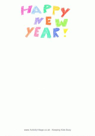 new year s stationary printable new year writing paper