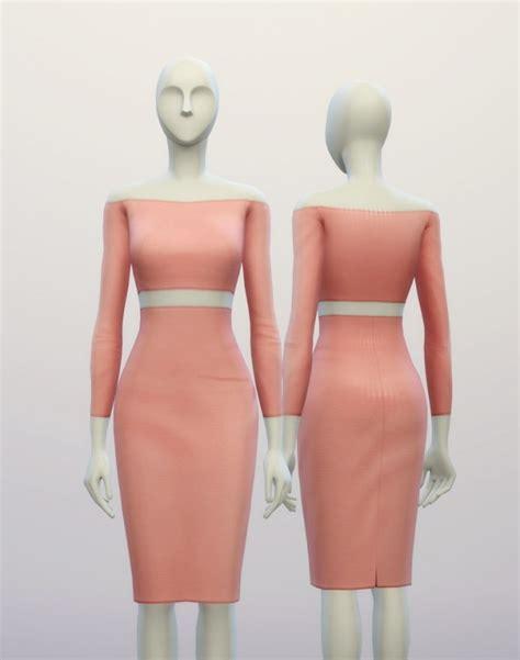 Basic Highwaist 9 basic high waist h line pencil dress at nail 187 sims 4 updates
