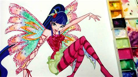Stelan Rabbit Mote by How To Draw Winx Club Musa Sirenix Speed Painting