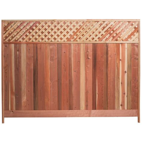 8 Ft Trellis Panels Mendocino Forest Products 6 Ft H X 8 Ft W Redwood