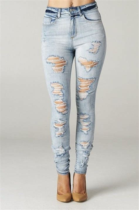 light ripped jeans womens high rise skinny jeans ripped destroyed women light weight