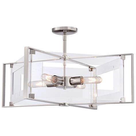 crystal clear light bulbs george kovacs crystal clear polished nickel semi