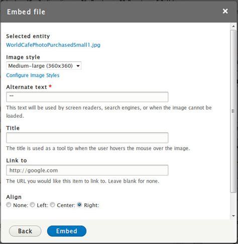 drupal theme entity entity embed link drupal org