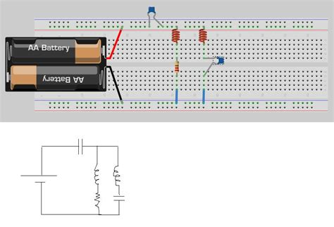 resistor on breadboard connect resistors in parallel on breadboard 28 images series and parallel circuits learn