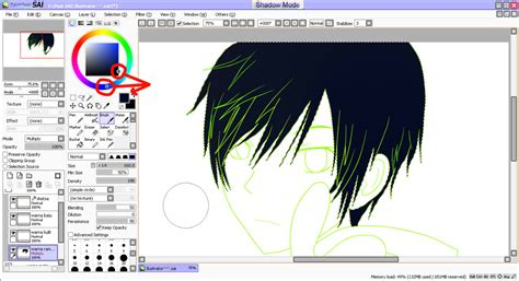 paint tool sai magic wand selecting everything light my tutorial colouring anime di software paint