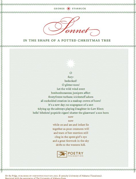 poets and writers picnic christmas sonnet