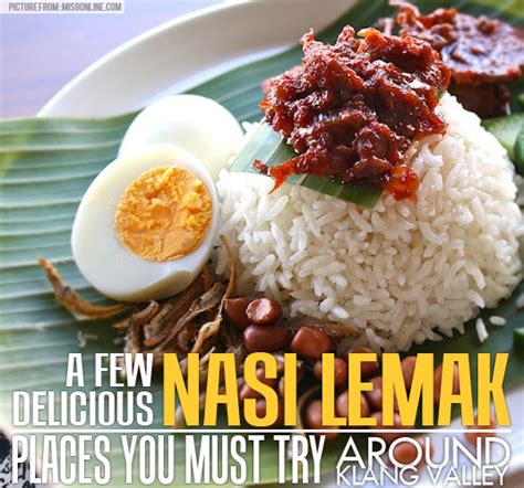 design banner nasi lemak a few delicious nasi lemak places you must try around