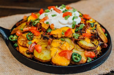 nachos supreme recipe potato nacho supreme plate of yum