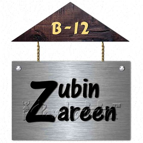 buy house shape name sign design in metal in india