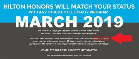 hilton honors diamond status hilton honors diamond status match confusion march 2018 or