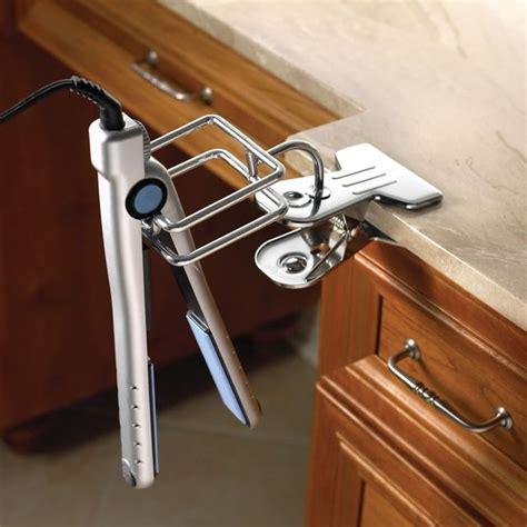 Hair Dryer And Hair Straightener Holder clip on iron hair dryer holder kewlness in