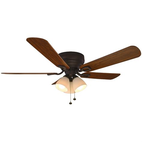 rubbed bronze ceiling fan with light hton bay blair 52 in led indoor rubbed bronze