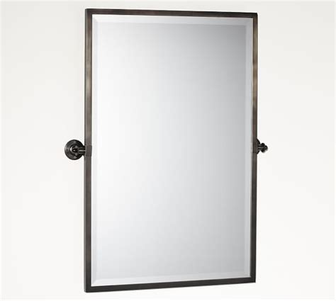 kensington pivot mirror extra large rectangle chrome kensington pivot rectangular mirror pottery barn