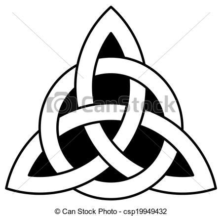 celtic trinity knot triquetra interlaced with a circle