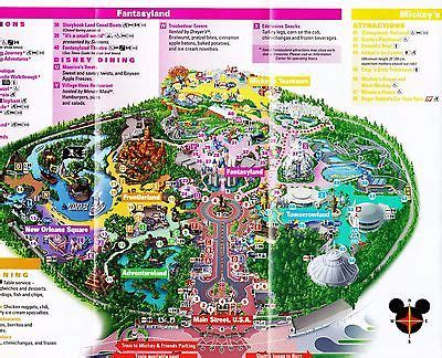 2017 new disneyland map guides main street electrical