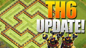 Clash of clans epic th6 farming base quot 2 air defense update quot town