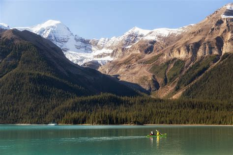 maligne lake boat cruise multi day paddling trip to spirit island and beyond in a