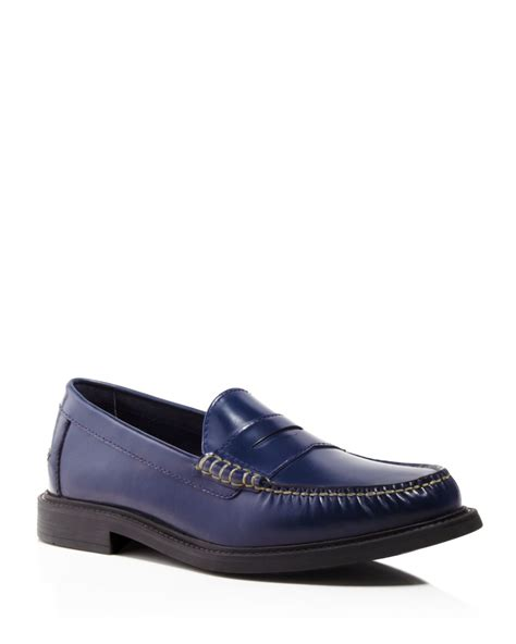 cole haan blue loafers cole haan pinch cus loafers in blue lyst