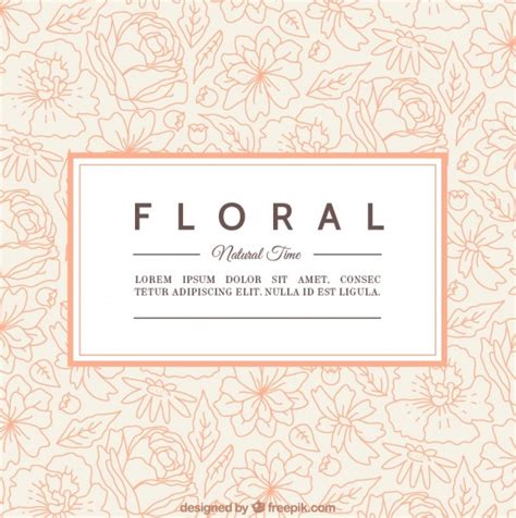 Floral Card Template Free by Floral Card Template Vector Free