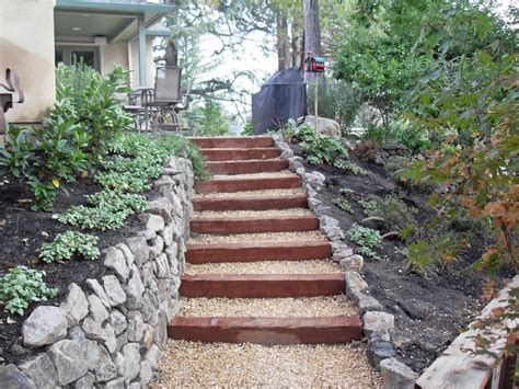 garden stairs landscape steps and pathway and retaining wall